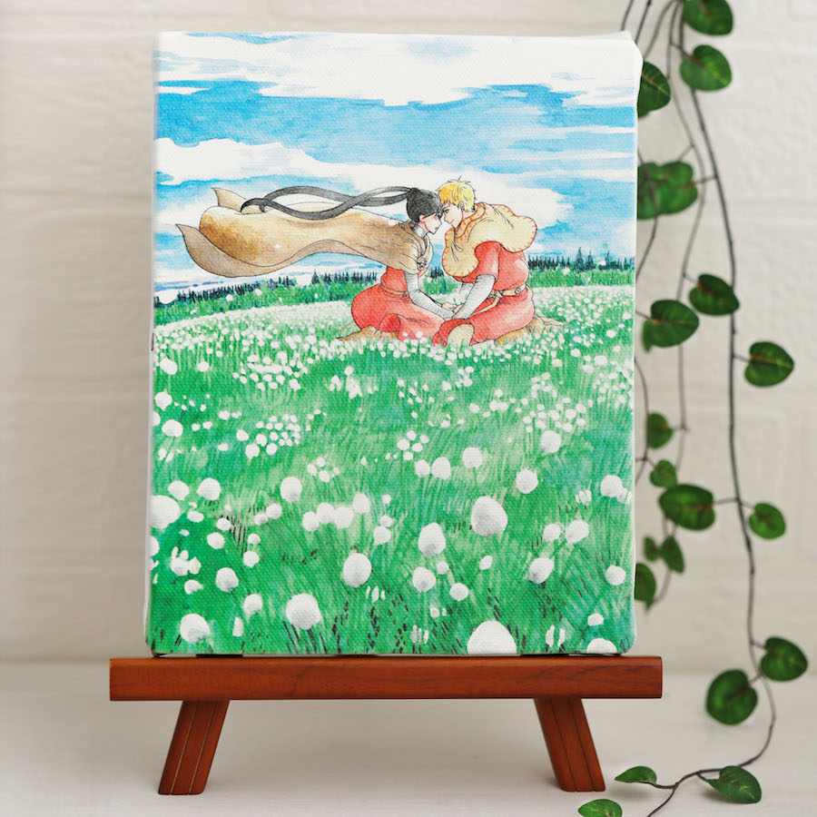 岩本ナオ先生「マロニエ王国の七人の騎士」イーゼル付きキャンバスアートB(中)