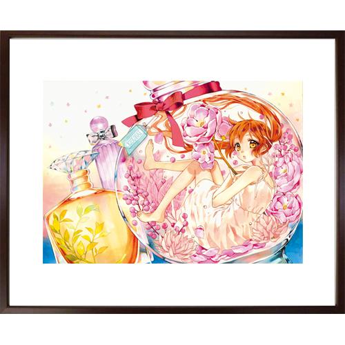 佐野愛莉先生直筆サイン入り超高画質複製原画プリマグラフィ「幼なじみと、キスしたくなくない。A」(サイズ中)