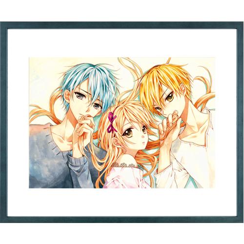 佐野愛莉先生直筆サイン入り超高画質複製原画プリマグラフィ「幼なじみと、キスしたくなくない。B」(サイズ中)