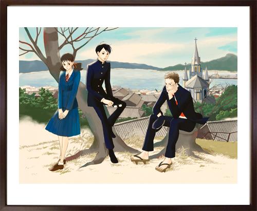 小玉ユキ先生直筆サイン入り超高画質複製原画プリマグラフィ「坂道のアポロンC」(サイズ中)
