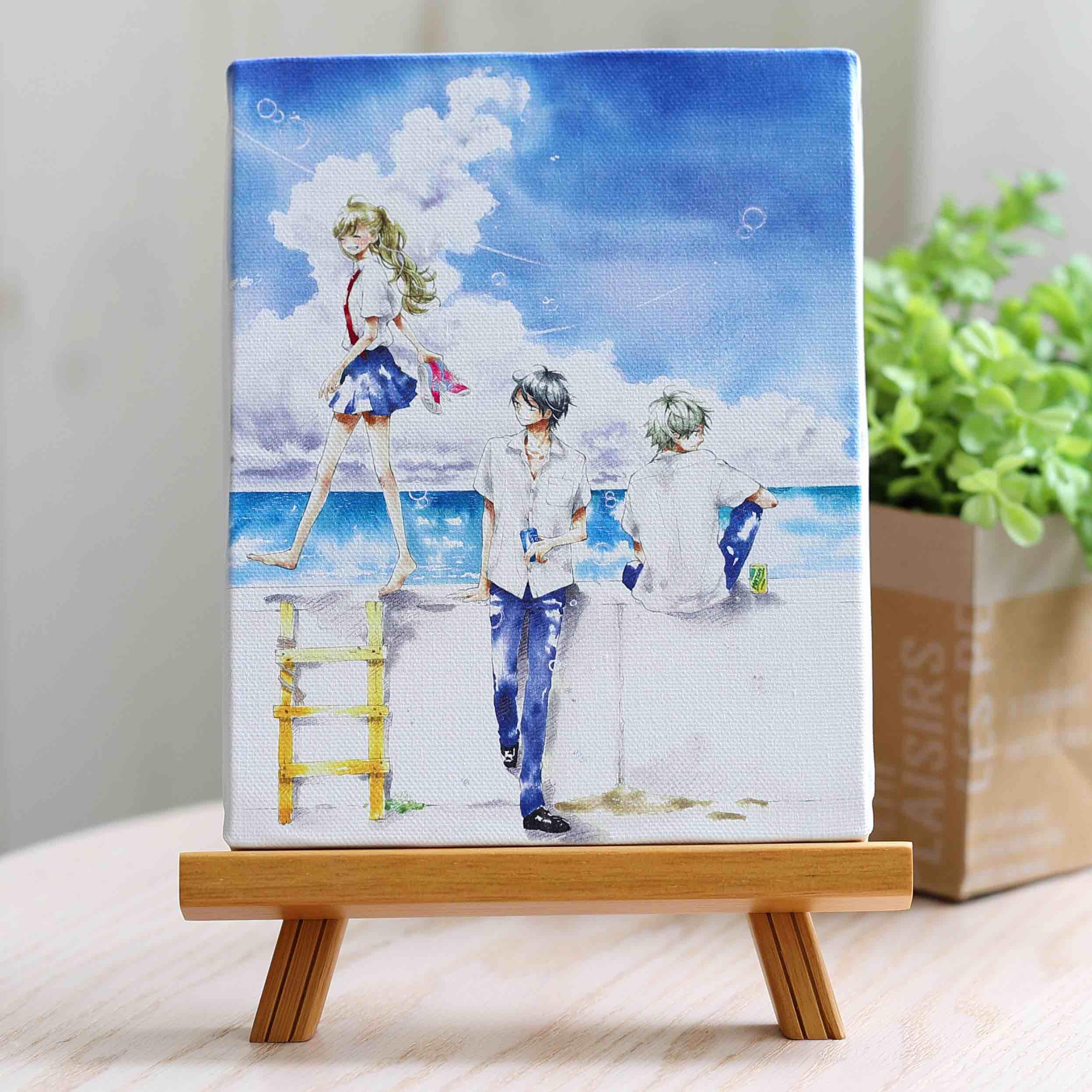 千葉コズエ先生「1/3 さんぶんのいち」イーゼル付きキャンバスアートA(中)