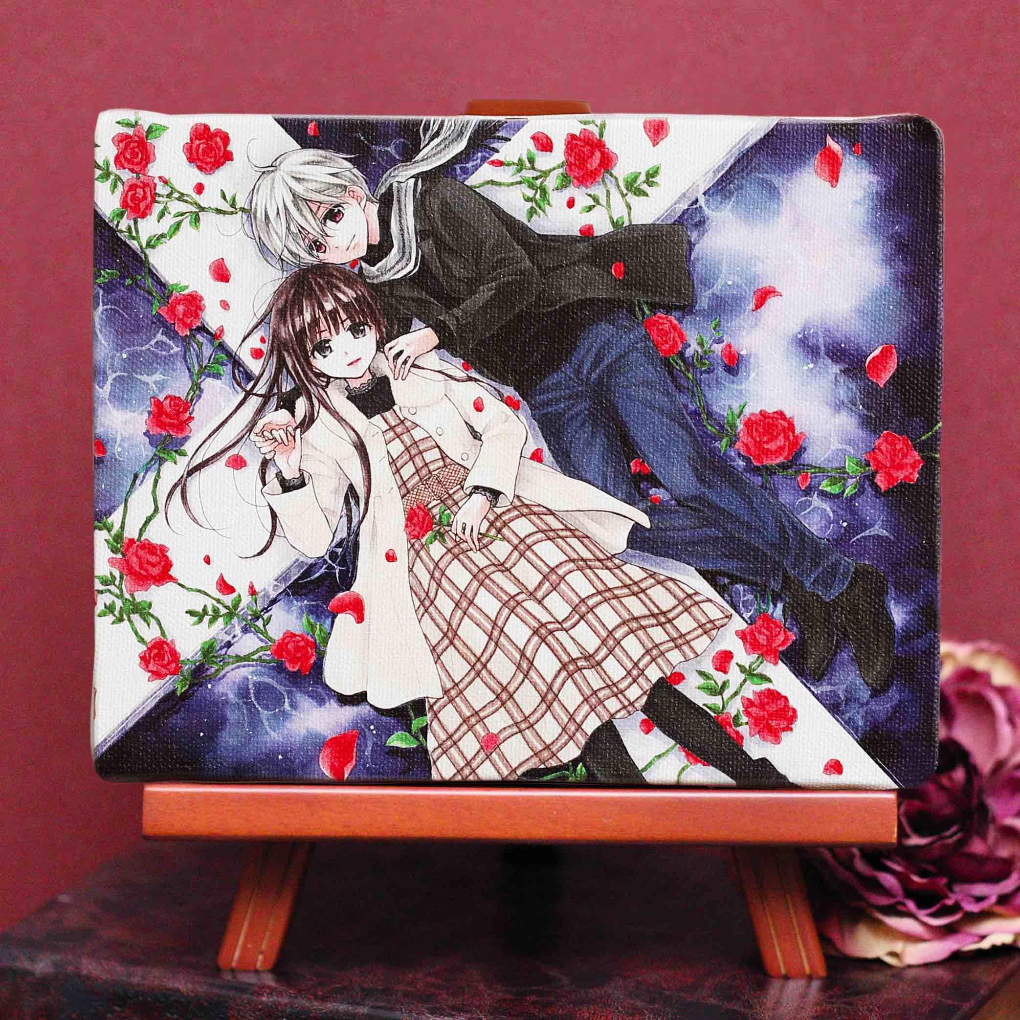 くまがい杏子先生「チョコレート・ヴァンパイア」イーゼル付きキャンバスアートA(中)