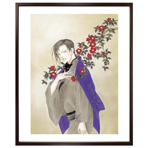 波津彬子先生直筆サイン入り超高画質複製原画プリマグラフィ「ふるぎぬや紋様帳 B」