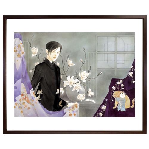 波津彬子先生直筆サイン入り超高画質複製原画プリマグラフィ「ふるぎぬや紋様帳 C」