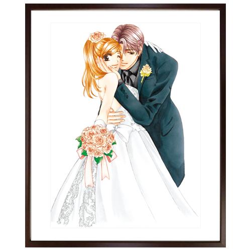 円城寺マキ先生直筆サイン入り超高精細複製原画プリマグラフィ「はぴまり~Happy Marriage!?~」(サイズ中)